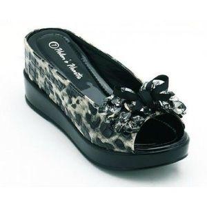 Black Leopard Ladies Casual Shoes